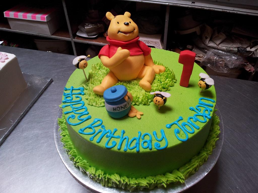 Enjoyable 1St Birthday Wicked Chocolate Cake In Green Butter Icing W Flickr Funny Birthday Cards Online Benoljebrpdamsfinfo