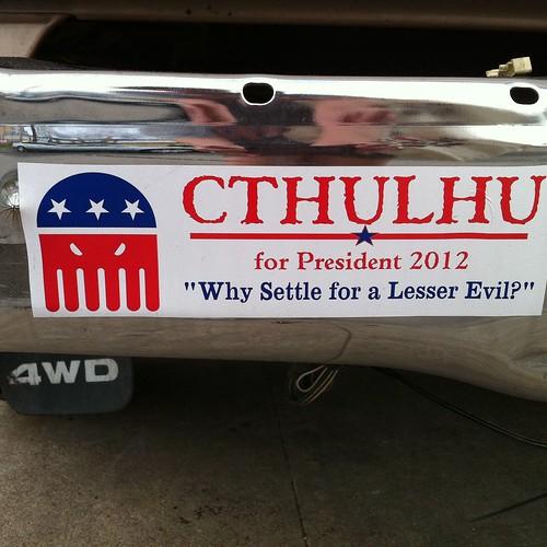 Cthulhu for President, 2012 | by annainaustin