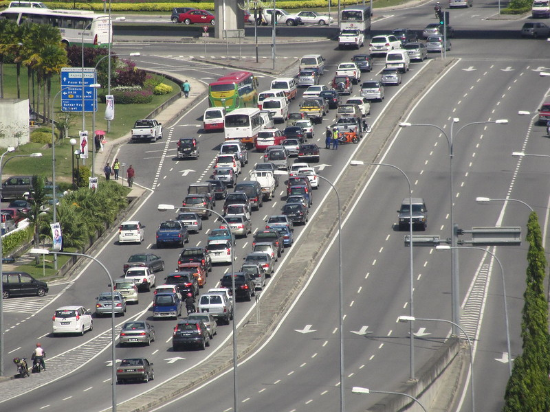 Traffic Crawl In Kota Kinabalu City