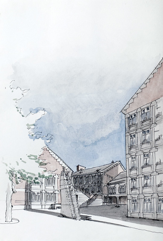 Liège, Cour Saint-Antoine (Charles Vandenhove 1979)