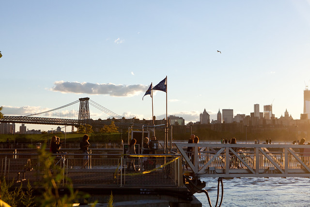 The East River Waterfront at sunset