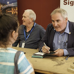 Chris Riddell   The Children's Laureate meets some of his young fans at his Book Signing © Robin Mair