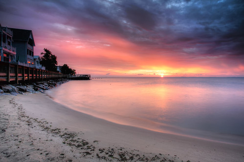 longexposure morning beach clouds sunrise reflections dawn sand colorful maryland pastels northbeach boardwalk chesapeakebay waterscape neutraldensity canon5dmkii singhrayrgnd ef1740f40lusm