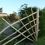 Chestnut Sculpture Trellis