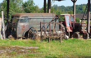 Peugeot D4/D4B Van + MF 165 tractor | by Spottedlaurel