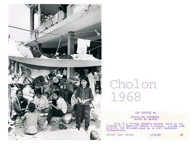 Cholon 1968 - Refugee Scene at Buddhist Temple