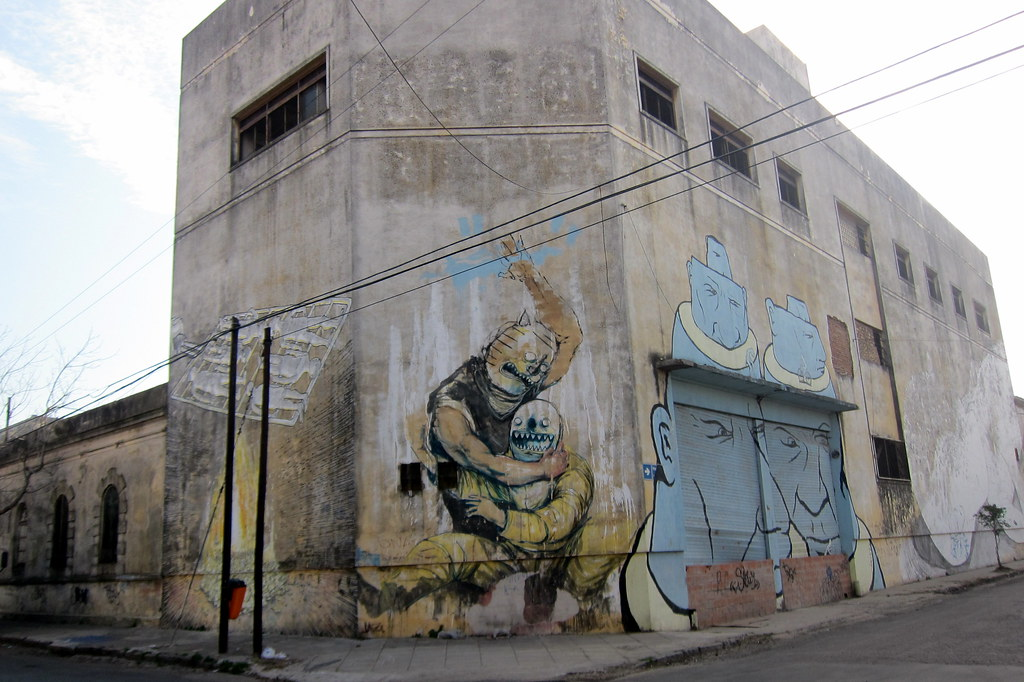Buenos Aires La Boca Murals By Blu Jaz And Gualicho Flickr