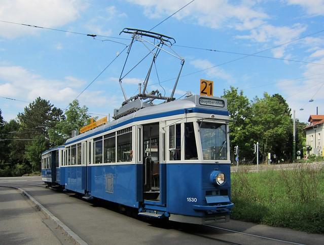 Tram Museum Zürich - Museumslinie 21 (25.08.2012)
