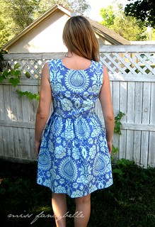 Back of Sis Boom Angie Dress in Amy Butler Bali Gate