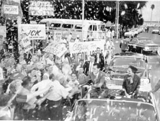Richard and Pat Nixon during a campaign parade: St. Petersburg, Florida