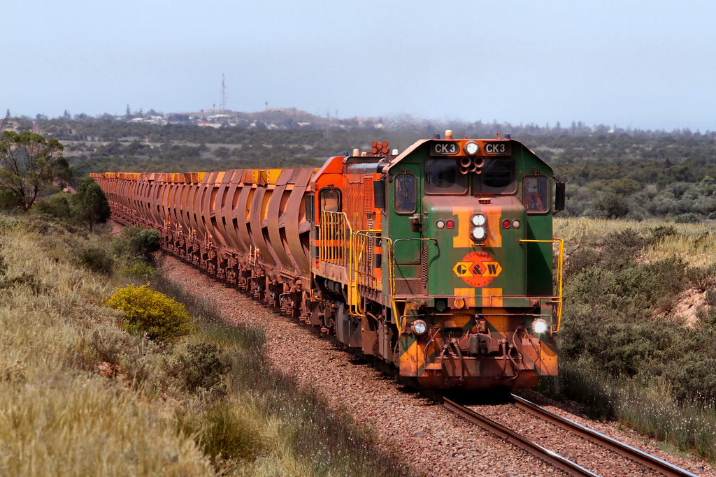 CK3 1907 WK53 Empty Arrium Iron Knight Ore 14km Whyalla - Middleback Junction Section 27 09 2012 by Daven Walters