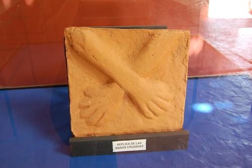 Replica of Las Manos Cruzadas, Museum, Kotosh, Huánuco, Peru | by blueskylimit