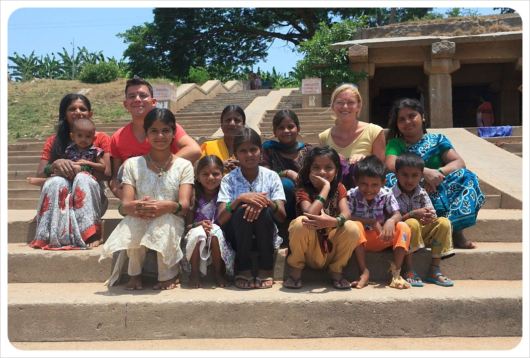 dani and jaime with kids in india
