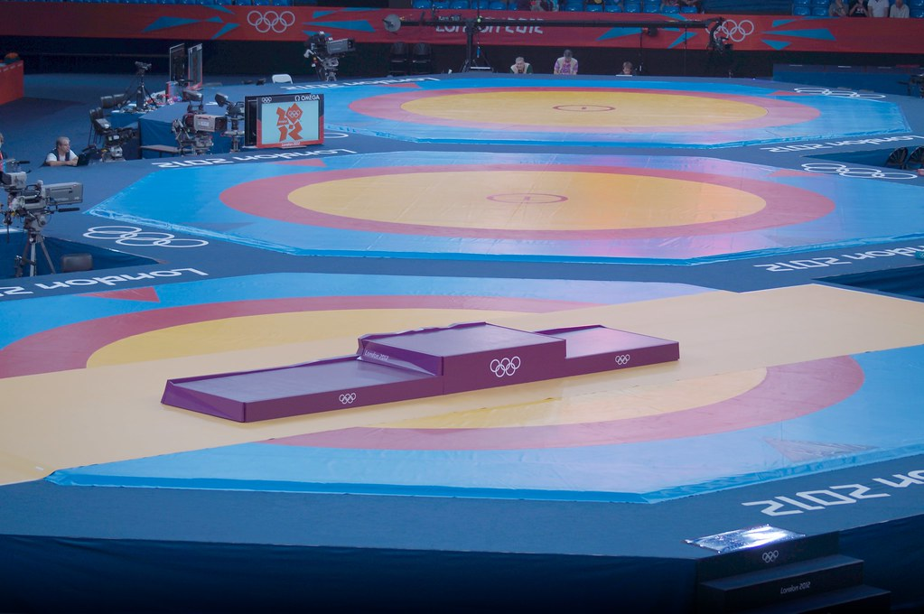 c895e22d11 ... The Olympic podium London 2012 Men's Freestyle Wrestling Excel Arena |  by jimmyh18