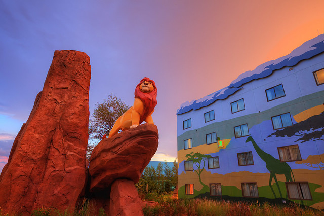 """""""You must take your place in the Circle of Life"""" (Lion King wing at Disney's Art of Animation Resort)"""