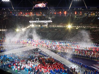 Athletes Enter the Olympic Stadium for the Closing Ceremony | by Paul Robert Lloyd