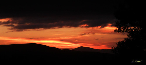 atardecer sundown galicia nubes cielonaranja