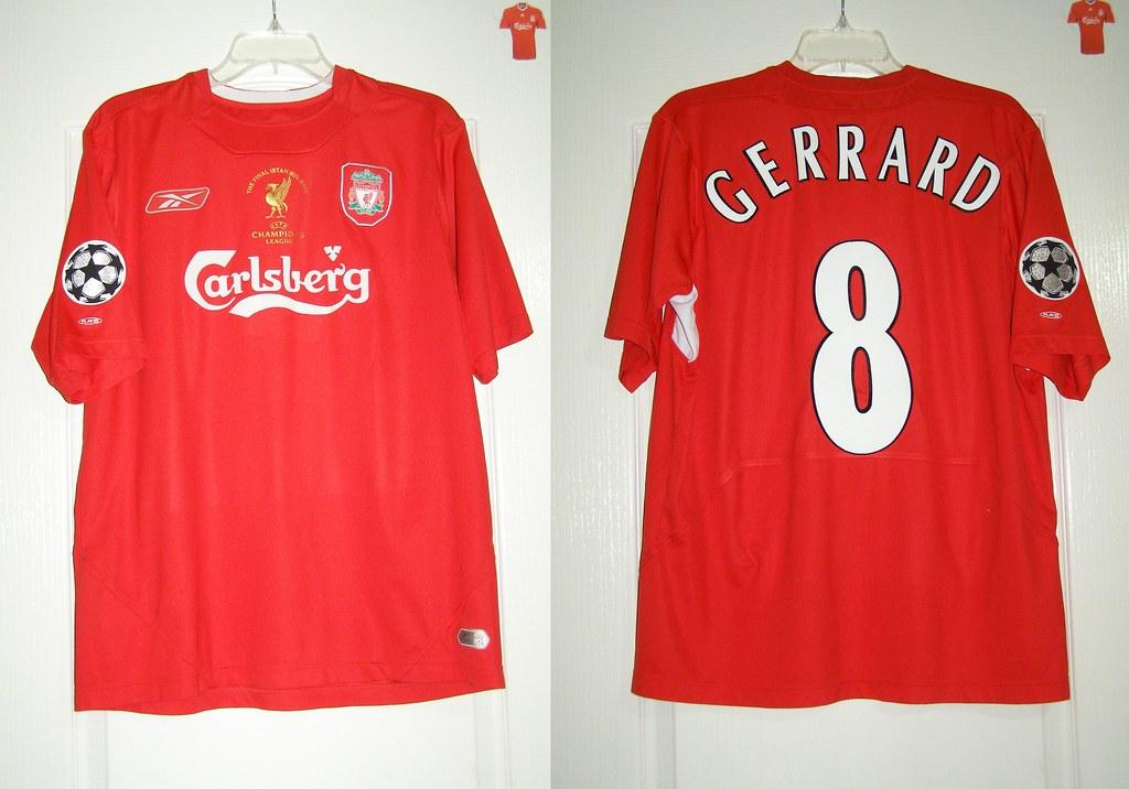 af06b35b7 ... Liverpool F.C. 2004-2006 Home. Steven Gerrard  8