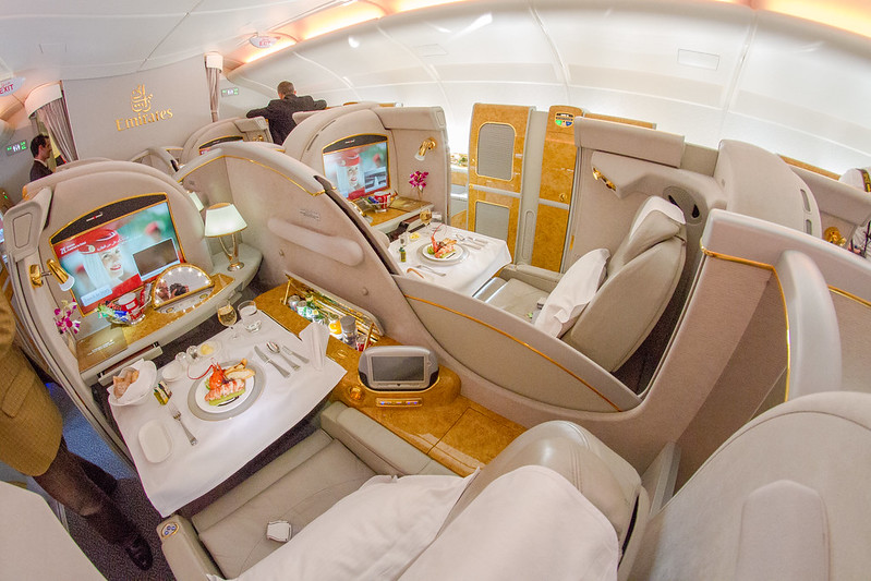 Emirates Airbus 380 First Class
