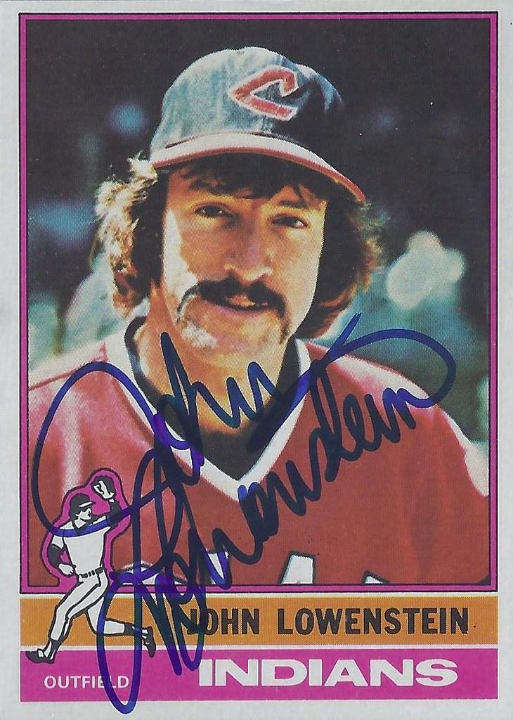 1976 Topps John Lowenstein 646 Outfielder Autograph Flickr