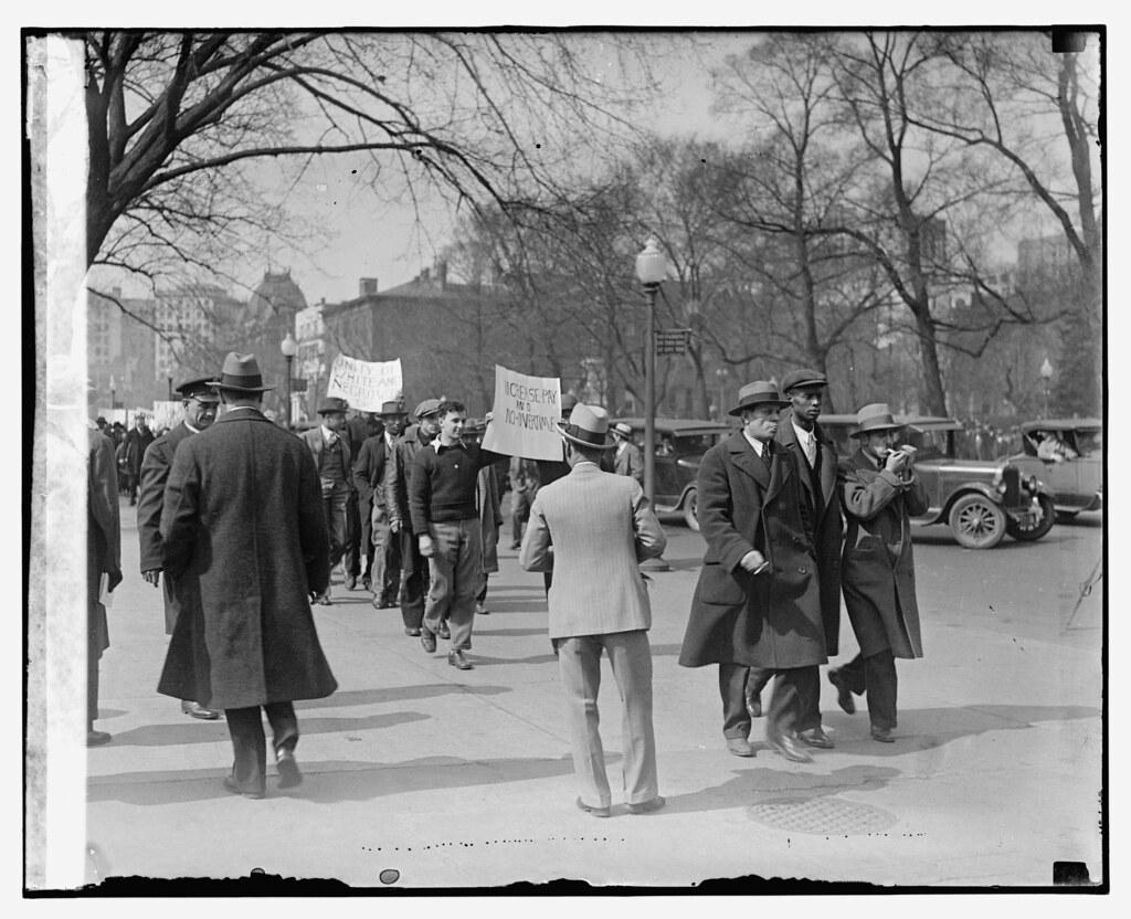 Blacks Whites Protest Job Losses 1930 No 2 Over 100 Bla Flickr