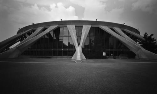 city urban blackandwhite usa building 120 film architecture analog mediumformat landscape outdoors virginia day unitedstates norfolk scenic pinhole pinholecamera brutalism pinholephotography blackandwhitephotography norfolkscope filmphotography holga120wpc phfb