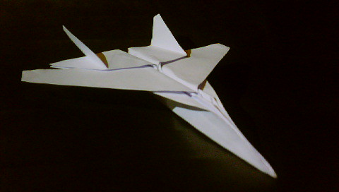 Origami F-15 Eagle Jet Fighter Airplane And Origami Paper Plane ... | 272x480