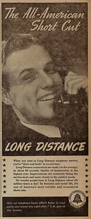 1940 TSL ad for long-distance telephone service