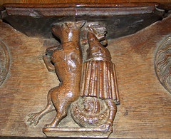 fox carrying off a priest