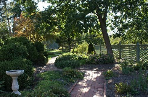 Summerseat Farm garden path, Mechanicsville