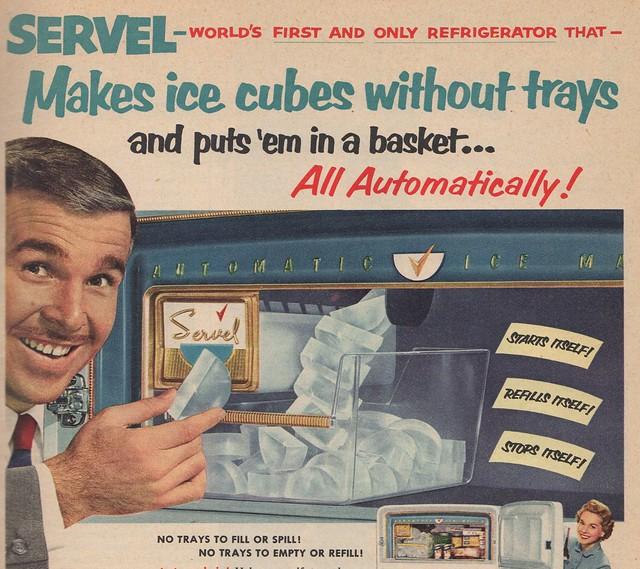 Servel fridge - first ice cube maker