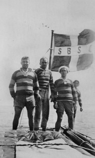 Members of the South Brisbane Sailing Club on Moreton Bay during Easter, 1924