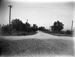 View of unpaved College Avenue in 1900
