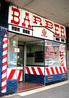 Haircuts   Barber shop, Petersham. Photo: Gabriel Zeng ...