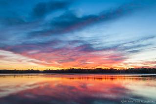 Hoover Reservoir at Dawn   by Reuben Yau