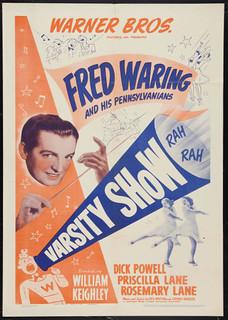 """Poster for """"Varsity Show"""" (1937), filmed at Pomona College"""