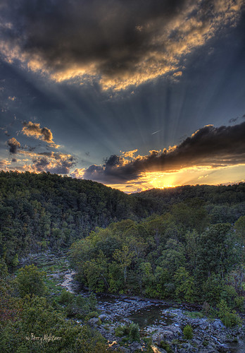 bridge blue autumn light sky fall clouds river twilight day shadows 1st jet first ridge roanoke parkway terry rays hdr aldhizer terryaldhizercom