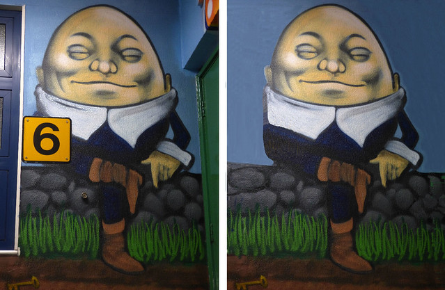 Humpty before and after