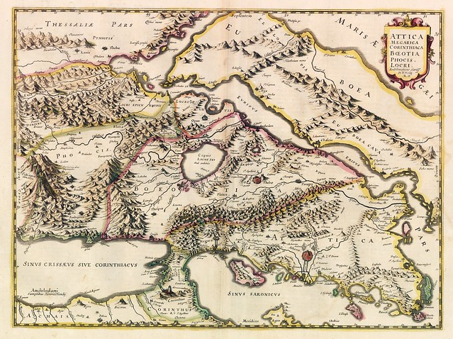 Map of Attica, 1639 (Hondius)