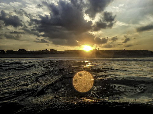 sunset seasidepark beach surf reflection