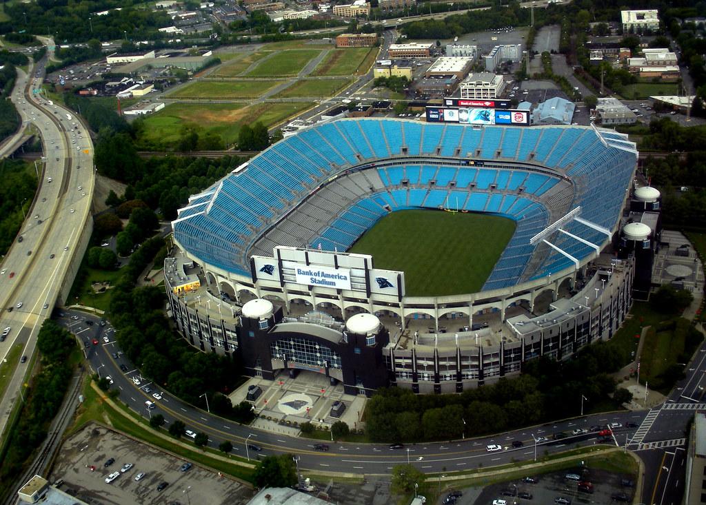 Bank of America Stadium in Charlotte