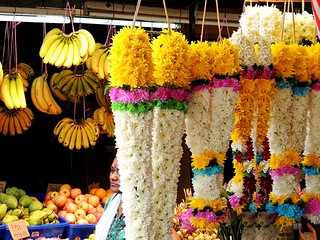 """Flower stall in """"little India"""" or Brickfields of Kuala Lumpur 