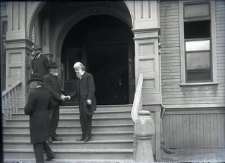 College administrators and Reverend Lyman Abbott (1905)
