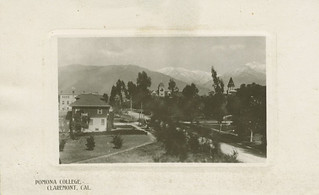 Postcard of Pomona College in 1909
