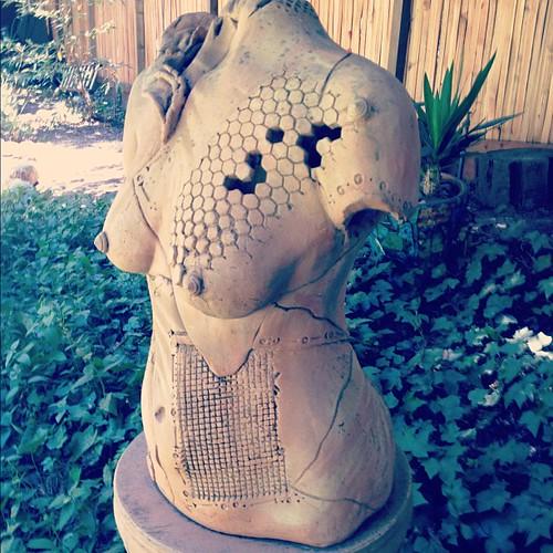 garden bust. #henrymillerlibrary | by sarahwulfeck