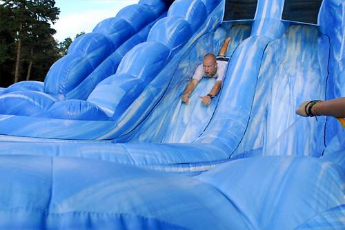 Everyone had great fun on the slide SGA provided