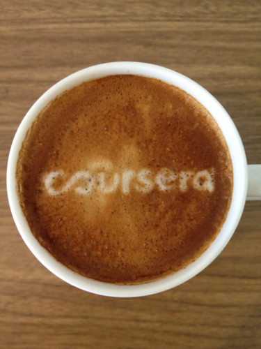 Today's latte, Coursera.org. | by yukop
