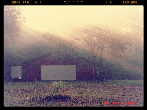 morning misty barn sunrise sunup