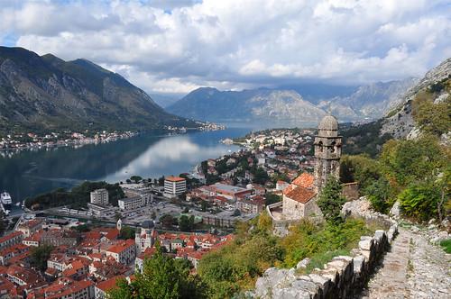 wow bay day view cloudy hike fjord montenegro kotor bokakotorska