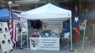 Gus and Joe at KWTP booth on Fourth of July 2012   by kwtp2012